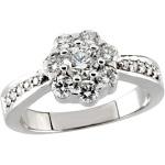 Flower Design Cluster Diamond Ring